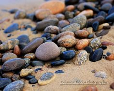 8x10 Beach Stones - Landscape Photography, Fine Art, Beach Print, Nature Home Decor, Orange and Grey Wall Art on Etsy, $20.00