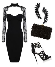 """""""Perfect for hourglass body shape """" by insha-firdous on Polyvore featuring Giuseppe Zanotti, Elie Saab and Cristabelle"""