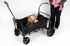 Go-Go Babyz Double Wagon Stroller, Black The last stroller you ever need for your growing, active family. The Go-Go Babyz double wagon stroller is the first Folding Wagon, Kids Wagon, Baby Strollers, Car Seats, Toddler Stuff, Baby Products, Children, Toddlers, Safety