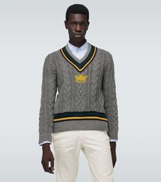 Men Sweater, Belstaff, Click Photo, Alpaca Wool, Knitting Designs, Cable Knit, Cricket, Sweaters, Dads