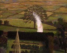 DAVID INSHAW Garden Bonfire and Landscape, 1992-95