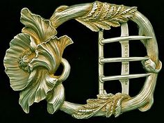 gilt silver art nouveau buckle | JV