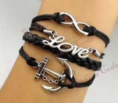 Infinity Anchor & Love Charm BraceletAntique by TheGiftoftheMagic, $4.99