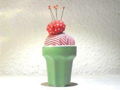 """Nadelkissen """"ice ice"""" green von bendeniz auf DaWanda.com"""
