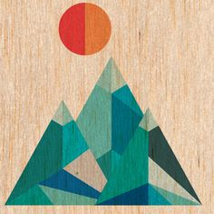 Geometric mountains created in Illustrator, put together in Photoshop