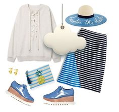 """""""Head in the clouds"""" by musicfriend1 ❤ liked on Polyvore featuring J.Crew, Kayu, STELLA McCARTNEY and Vince Camuto"""