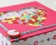 Caja de regalo corazón san valentín shaker gift box
