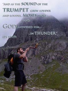 Hiking and sounding the shofar :~)