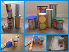 Making your own instruments can be so much fun with your little ones. All you have to do is save your snack containers to make an instrument! Eco friendly and fun for everyone! We found all sorts of containers over the past month to save for our musical instruments. Baby snack containers, soda bottle, oatmeal container, popcorn …