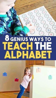 8 Genius Activities for Teaching Letters - Toddlers, Preschool, & Kindergarten