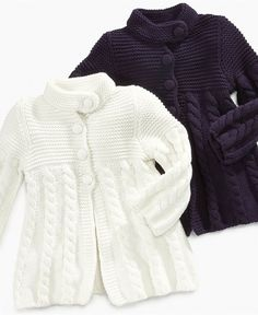 """diy_crafts-First Impressions Baby Sweater, Baby Girls Cable-Knit Sweater - Kids Baby Girl months) - Macy's babygirlsweaters """"First Impress Newborn Girl Outfits, Toddler Girl Outfits, Baby Outfits, Girl Toddler, Baby Girl Sweaters, Knitted Baby Clothes, Baby Girl Jackets, Baby Girl Patterns, Sweater Knitting Patterns"""