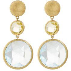 Marco Bicego Jaipur Gem Drop Earrings ($1,210) ❤ liked on Polyvore featuring jewelry, earrings, 18 karat gold earrings, gemstone earrings, indian jewellery, post earrings and 18 karat gold jewelry