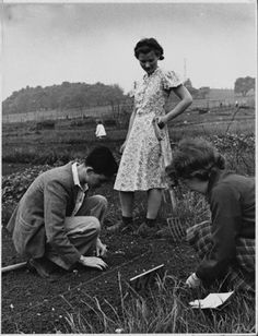 Garden Allotments on Hampstead Heath, 1941... Adore this photo. Have an allotment and love family history. This photo will mean so much to someone!