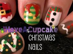 Christmas Nail Art. A little early for my taste but I like it. :)