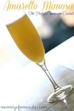 A twist on a regular mimosa, this Amaretto Mimosa has Champagne, orange juice, and Amaretto in it. You'll never want a regular mimosa again!