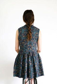 Alabama chanin floral tunic 1