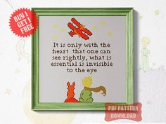 Little Prince Cross stitch pattern Modern Funny Quote