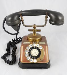 Copper & Brass KTAS D30 Telephone with rotary door laBodegaAntiques, $159.00