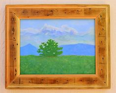 Early. This original landscape painting with a reclaimed wood frame is by Robert Price. www.robertpricegallery.etsy.com