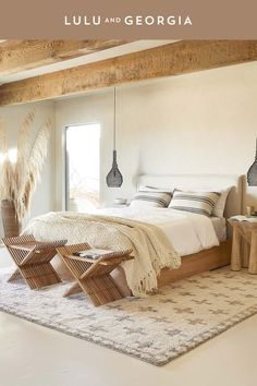 A tonal color palette, relaxed textures and unique silhouettes offer a light and casual look while soft, layered linens make it extra cozy too. Master Bedroom, Bedroom Decor, Bedroom Wall, Bedroom Furniture, Bedroom Ideas, Bedroom Modern, Teen Bedroom, Bedroom Designs, Bedroom Inspiration
