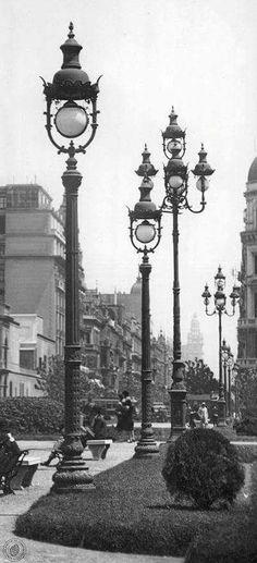 Alumbrado pùblico de avda de Mayo-1930-