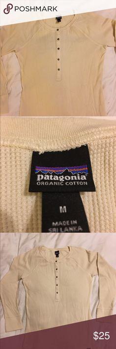 Men's Patagonia shirt Patagonia Men's long sleeve shirt. Pale yellow, organic cotton Patagonia Shirts Tees - Long Sleeve