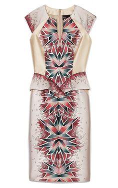 Coral Morph Print Day Dress by Bibhu Mohapatra for Preorder on Moda Operandi