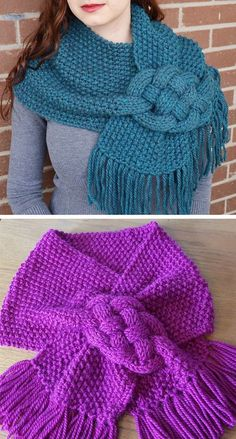 Braided Scarf and Cowl Knitting Patterns : Knitting Pattern for Misty Mornings Celtic Knot Scarf knitting to give you a better service we recommend you to browse the content on our site. Braided Scarf, Scarf Knots, Loop Scarf, Knotted Braid, Diy Scarf, Loom Knitting Patterns, Knitting Stitches, Free Knitting, Scarf Patterns