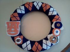 So proud of my Auburn wreath!! Now I am officially ready for the big game on Saturday!! WAR EAGLE!!