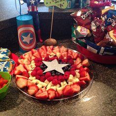 Captain America Fruit Tray!