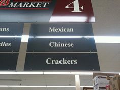 haha food for all races!