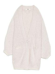 FURFUR (ファーファー) フェアリーハンドカーデ(カーディガン) 19,980円(税込)  |ファッション通販|ウサギオンライン公式通販サイト FURFURらしいシャーベットカラーのふんわりとした糸を数種類撚り合せ、それを贅沢に手編みでざっくりと編み上げたカーディガン。ずり落ちそうなくらいのビックシルエットで、女性らしい華奢さを演出するデザインになっています。見た目のままの、柔らかく心地よい肌触りもポイント。