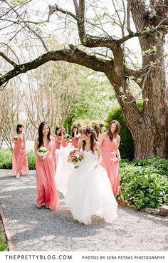 Soft pink spring wedding | Photography: Sera Petras | Bridesmaid Dresses: JCrew | Shoes: Kate Spade