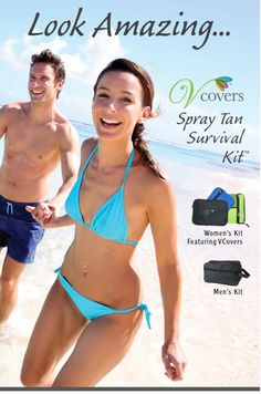 Getting ready for summer or any special event - Vcovers products fit your lifestyle; http://www.Vcovers.com  #SprayTan #SunlessProducts
