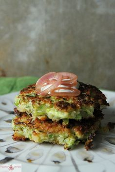 Brussels Sprouts Fritters. Goat cheese makes them creamy and the Brussels sprouts are lighter and fluffier than zucchini.