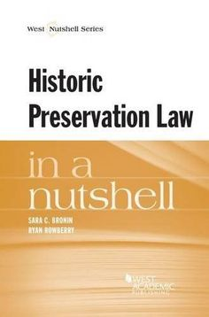Historic Preservation Law in a Nutshell