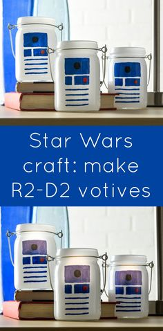This Star Wars craft is SO easy to make! I used dollar votives and paint pens to celebrate my love of R2D2 and create some cool luminaries. This DIY project is fun for kids, for teens, or for adults.
