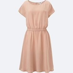 Shop our range of Women's T-shirts and tops. They come in a host of long- and short sleeved designs and colours, from bright shades to understated neutrals. Jumpsuit Dress, Knit Dress, Uniqlo Tops, Comfortable Bras, Stylish Dresses, Outfits For Teens, Shirt Designs, Short Sleeve Dresses, T Shirts For Women
