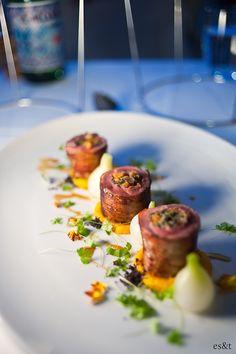 Petto D'anatra Arrotolato In Pancetta. Otto Ristorante, Woolloomooloo. Sydney Food, Squishies, Pancetta, Beef, Dining, Product Design, Meat, Food, Ox