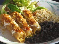 Making this for dinner tonight!!    Vegan Gluten Free Chickpea Taquitos: corn tortillas, chickpeas, tomato, onion, cilantro