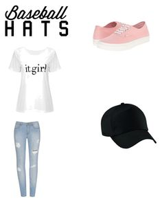 """baseball cap"" by pzorrilla ❤ liked on Polyvore featuring Vans, baseballcap and baseballhats"