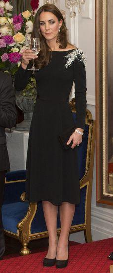 10th April 2014 - State reception at Government House. Wellington, New Zealand. Bespoke Jenny Packham dress.