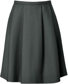 Tara Jarmon Circle Skirt in Bouteille on shopstyle.com