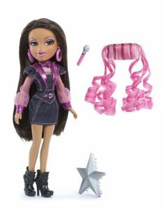 Bratz Bratz On The Mic Doll Pack Yasmin by Bratz. $29.99. Bratz doll in cool rock fashions. Star shaped hairbrush. Hand microphone. Hair extensions for ?getting ready to rock? transformation. From the Manufacturer Get ready to rock out with some serious style. The Bratz love to get decked out in their coolest rock gear and transform their beautiful hair before they rock their hearts out on stage. These super-cool girls totally rock. ...