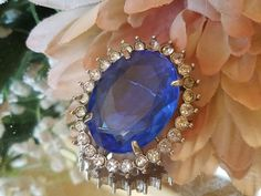 Vintage Avon 1972 'Creation In Blue' Necklace Pendant Brooch Pin RARE Collection #Avon #VictorianRevival