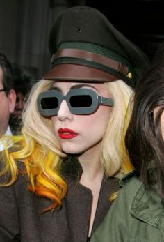 Lady Gaga and Accessories Definition of being out of order. Lady Gaga accessories, which make quite different preferences in clothing style, are among the Lady Gaga Sunglasses, Buy Sunglasses, Sunglasses Online, Funky Glasses, Hollywood Life, Celebrity Gossip, Designer, Eyewear, Celebs