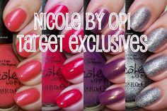 Nicole by OPI - Target Exclusives for Spring 2012 - click thru for swatches and review!