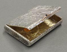 French Import .800 Fine Silver-Gilt Cigarette Case
