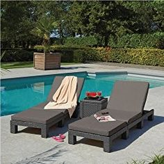 Daytona Outdoor Grey Sunlounger Chaise Lounges
