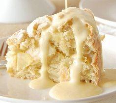 Irish Apple Cake with Custard Sauce Recipe